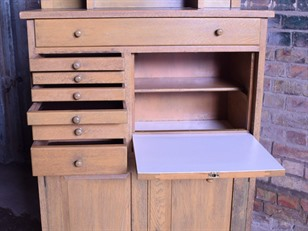 Vintage Oak Dental Cabinet