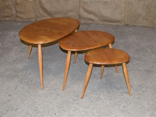 Ercol Pebble Nest of Tables